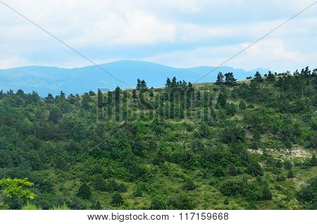Summer Landscape Of Caucasus Mountains In Kabardinka