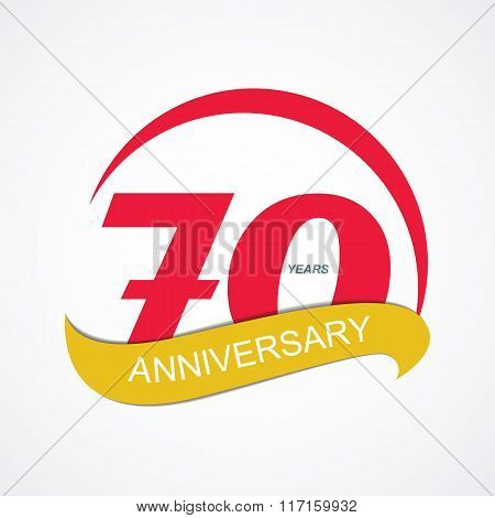 Template Logo 70 Anniversary Vector Illustration