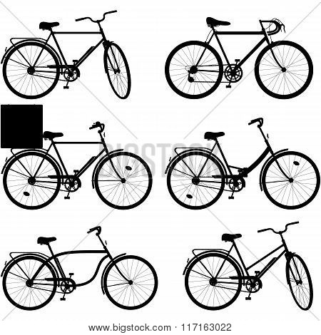 Vector Bicycle Pictogram Set 3