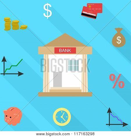 Bank Flat Design