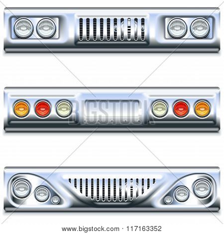 Vector Front And Rear Car Part