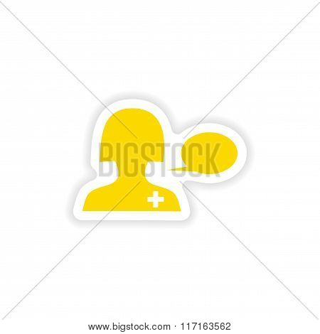 icon sticker realistic design on paper medical Advice