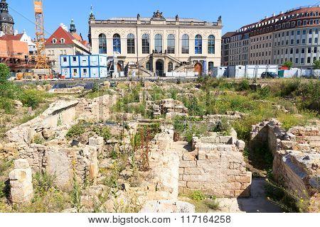 Archaeological Dig Quarter Vii Behind Kulturpalast In Dresden, Germany