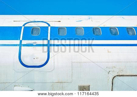 Fuselage Of Old Soviet Passenger Aircraft