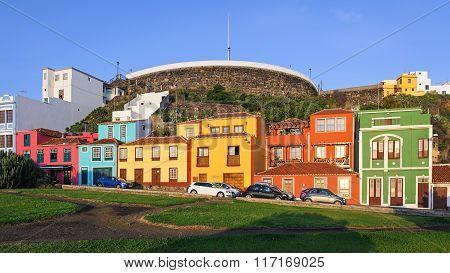 Colored Houses In Santa Cruz De La Palma, Spain