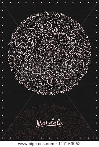 Mandala. Ethnic decorative elements. Hand drawn background.