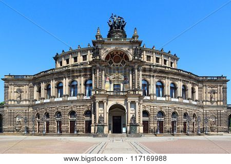 Saxon State Opera Semperoper In Dresden, Germany