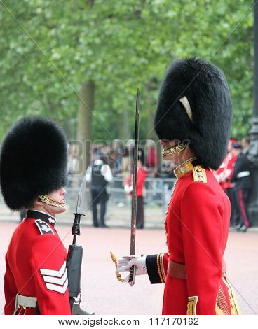 London, Uk-july 06, Soldier Of The Royal Guard, July 06.2015 In London