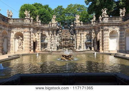 Water Garden Nymphenbad In Palace Zwinger, Dresden
