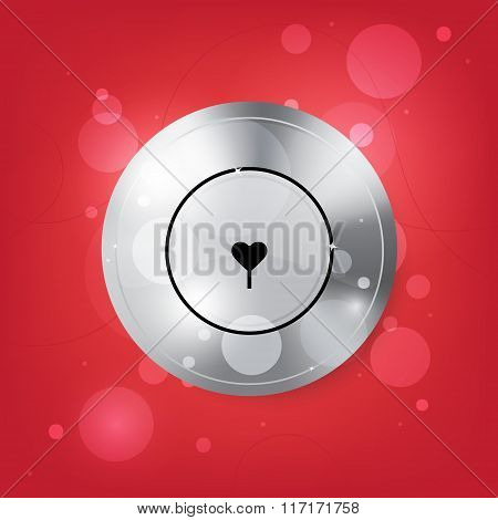 Locking hole in the form of heart
