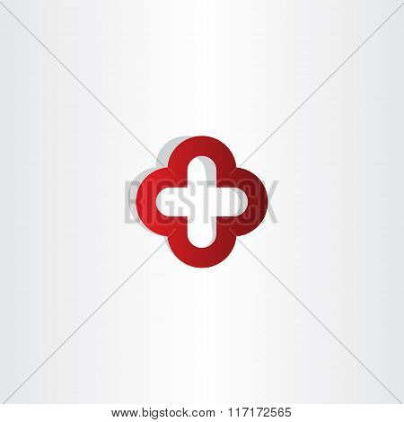 Red Cross Plus Logo Sign