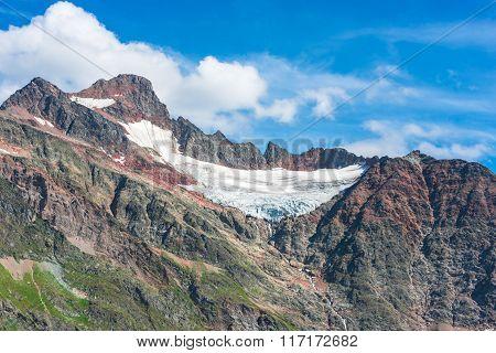 View To Steingletcher Mountain In Swiss Alps