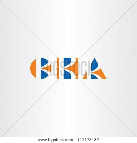 Triangle Circle And Square Letter K Logo Set