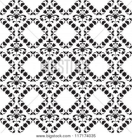 Symmetric floral seamless pattern