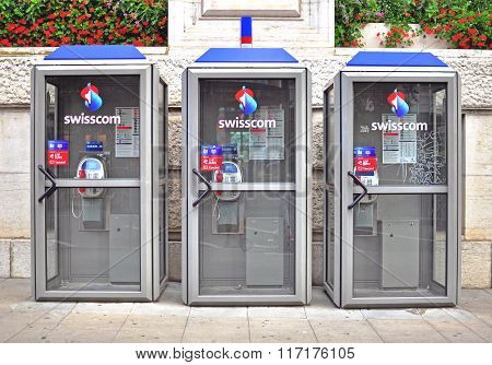 Swisscom Telephone Booths