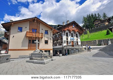 Courmayeur city, Italy