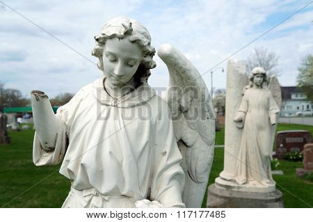 19th Century Sculpture of an Angel