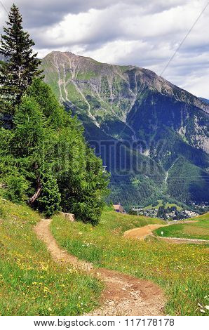 Winding Path In Mountains