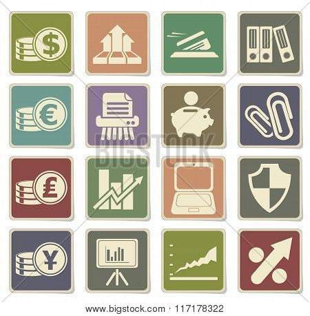 Business simple icons