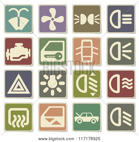 car interface sign