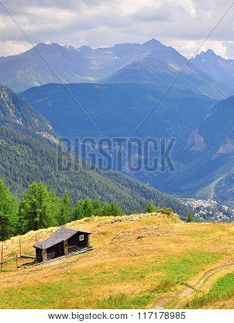 Farmhouse In Mountains