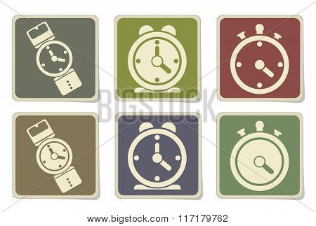 vector clocks icons