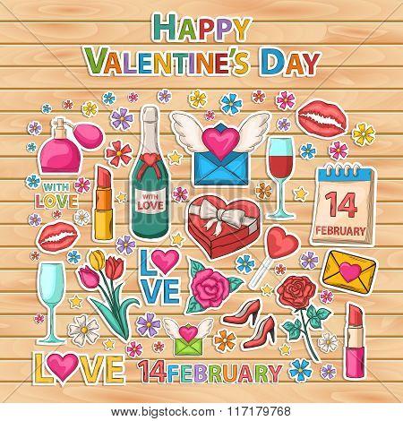 Happy Valentines Day set.