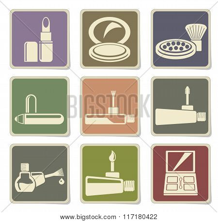 Make-up icons set