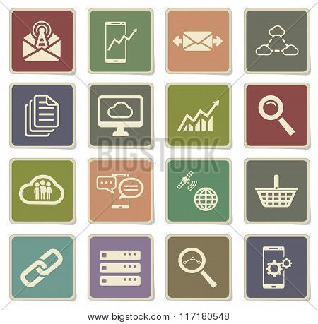 Data analytic simply icons