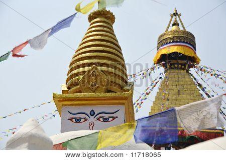 Bodhnath temple.