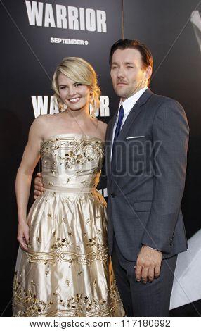Jennifer Morrison and Joel Edgerton at the Los Angeles premiere of