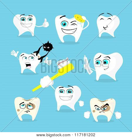 Teeth Dental Health Care Set Collection