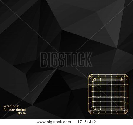 Abstract Creative concept vector background of the Cube of lines and dots.. Polygonal design style l