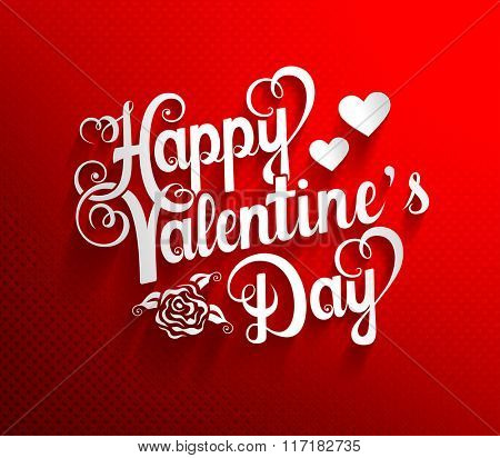 Vector illustration of Valentines Day lettering background
