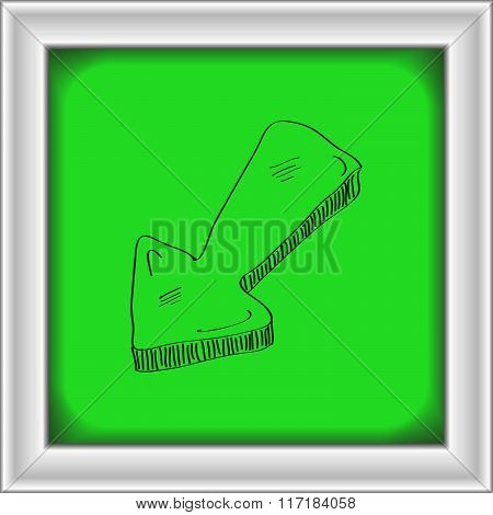 Simple Doodle Of An Arrow