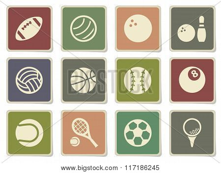 Sport balls simply icons