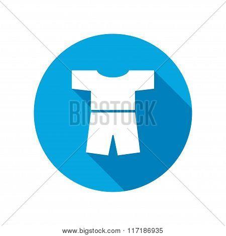 Tshirt with shorts icon. Clothing symbol.