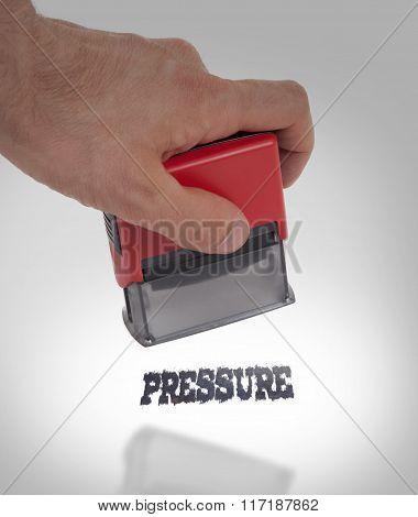 Plastic Stamp In Hand, Pressure