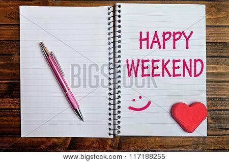 Happy Weekend Words