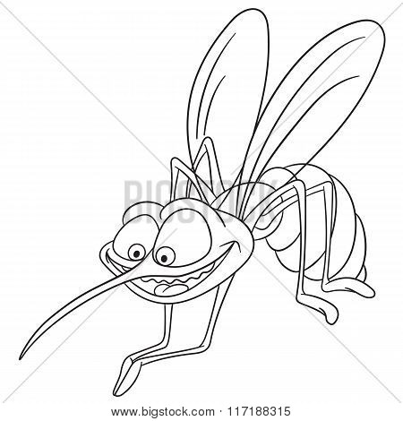 Cute Cartoon Mosquito
