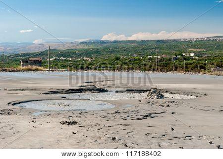 Mud Volcano Near Paternò (Sicily)