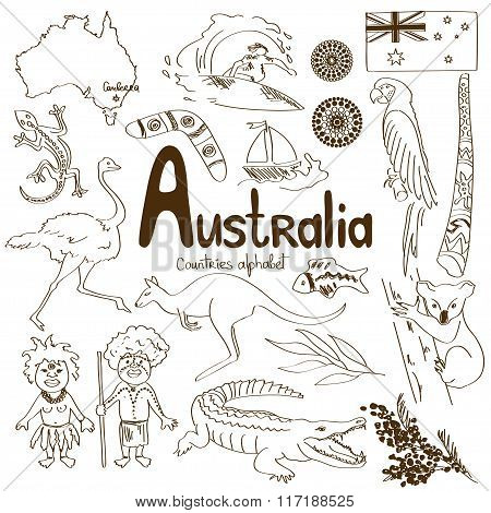 Collection Of Australia Icons.
