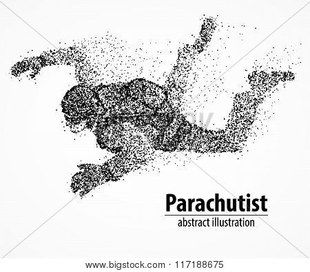 abstraction, parachutist, fly