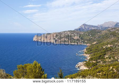 View of west coast of Mallorca island, Spain