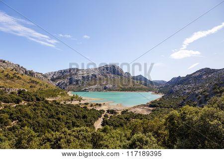 Cuber lake in Tramuntana, Mallorca island, Spain