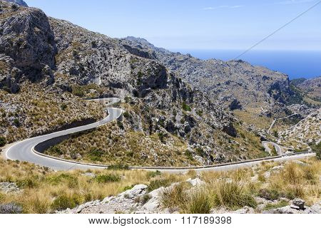 Road to Sa Calobra on Mallorca Island, Spain