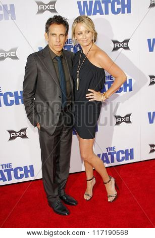 Ben Stiller and Christine Taylor at the Los Angeles premiere of