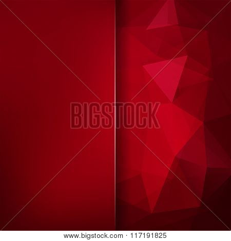 Abstract Polygonal Vector Background. Red Color. Colorful Geometric Vector Illustration. Creative De