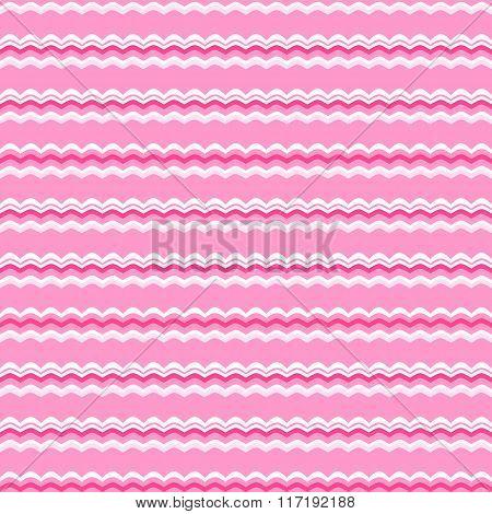 Cute pink vector seamless pattern. Endless texture