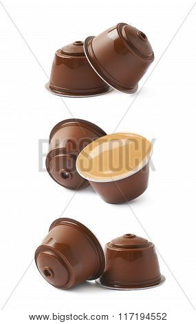Coffee machine capsule isolated